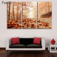 Modular Pictures Wall Art Poster Frame Home Decor For Living Room 3 Pieces Highway Painting Canvas