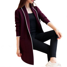 Large size wild long sleeves solid color sweater womens jacket 2019 spring and autumn new fashion cardigan