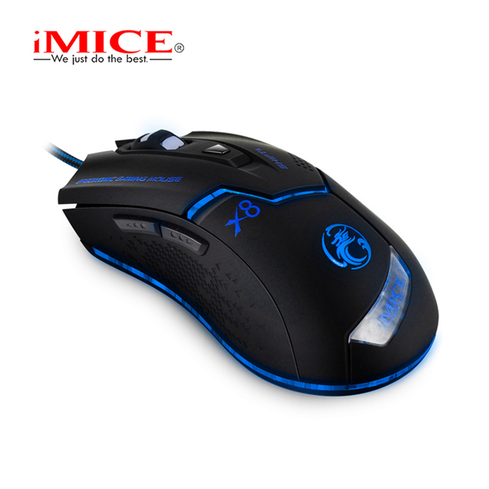 Image 5 - iMICE Professional Wired Gaming mouse  3200dpi USB Optical Mouse 6 Buttons Computer Mouse Gamer Mice For PC Laptop X8-in Mice from Computer & Office