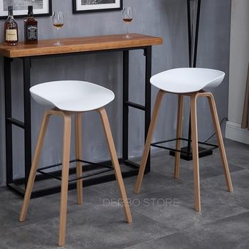 Popular Modern Design solid wooden plastic bar chair  1