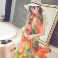 Summer style long brand beach chiffon shawl Pascual large scarf solid color elegant women cape scarf cape 200*145cm