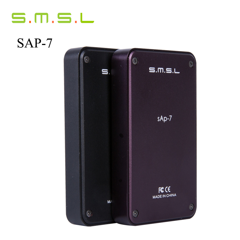 New Version SMSL SAP-7 HIFI Portable Headphone Power Amplifier Aluminum Enclosure Headphones AMP Integrated Amplificador Black smsl sap 7 black
