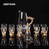כוס יין לבן זכוכית מיני יוקרתי רטרו בעלי החיים סדרת 12 גלגל המזלות כוס יין כוס זכוכית בראש הכוס הראשונה מפריד סט Drinkware מתנות 12 יחידות