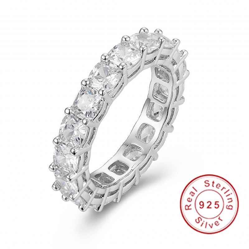 925 SILVER PAVE Cushion cut FULL SQUARE Simulated Diamond CZ ETERNITY BAND ENGAGEMENT WEDDING Stone Rings Size 5,6,7,8,9,10925 SILVER PAVE Cushion cut FULL SQUARE Simulated Diamond CZ ETERNITY BAND ENGAGEMENT WEDDING Stone Rings Size 5,6,7,8,9,10