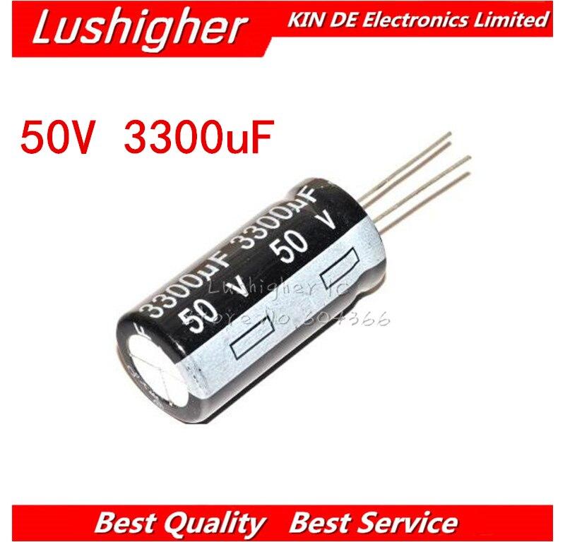 5PCS 50V3300UF 18*35mm 3300UF 50V 16x35 Mm Aluminum Electrolytic Capacitor DIP