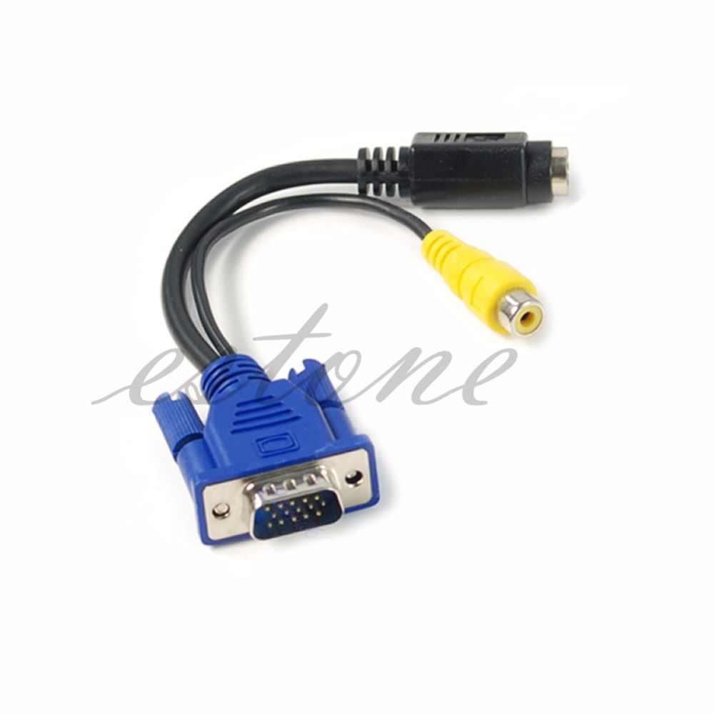 Vfa untuk TV S-Video RCA AV Converter Kabel Adaptor-L059 Baru Panas