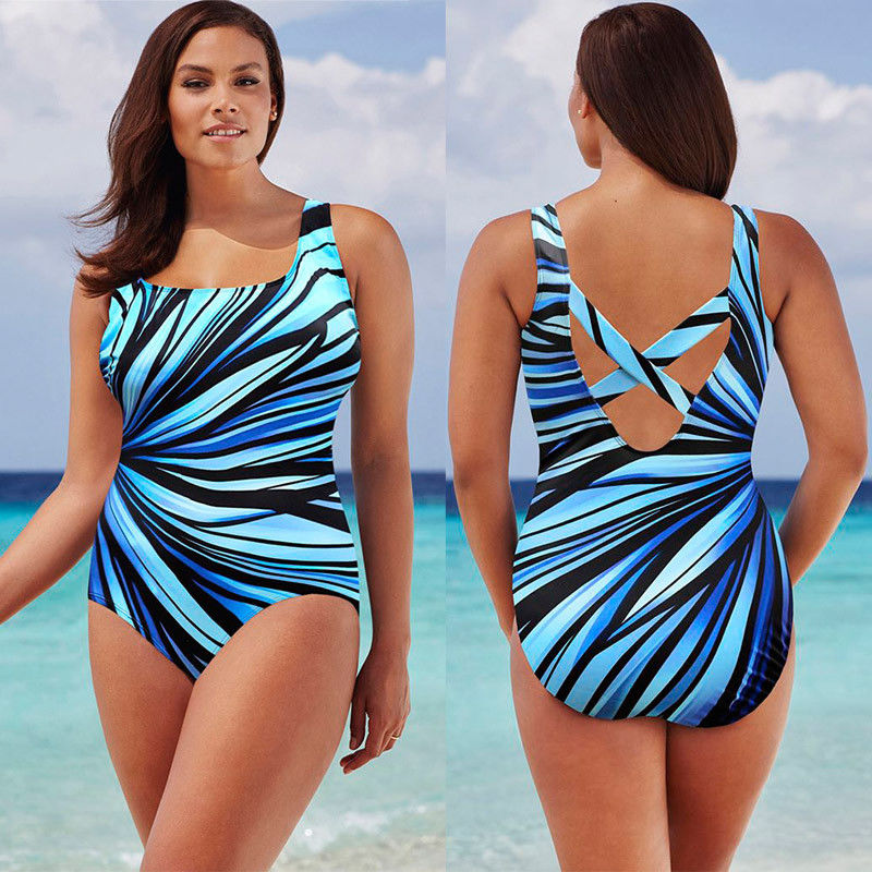 8b4b47807c Plus Size One Piece Swimsuit 2017 Large Size Swimwear Plus Size Swimsuit  Women Big Cup Colorful Bathing Suit Sexy Monokini XXXL-in Body Suits from  Sports ...