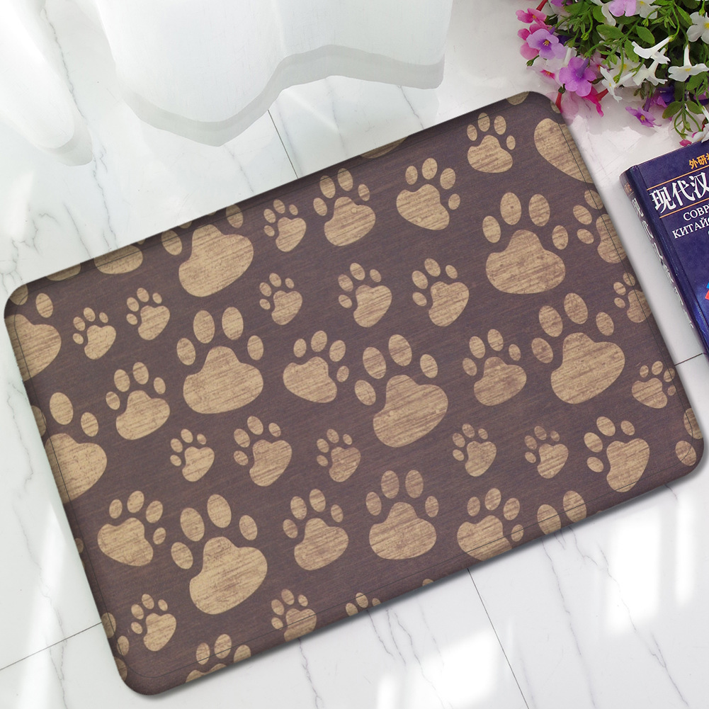 Dog Paw Funny Words Go Away Rubber Indoor Outdoor Welcome Anti Slip ...