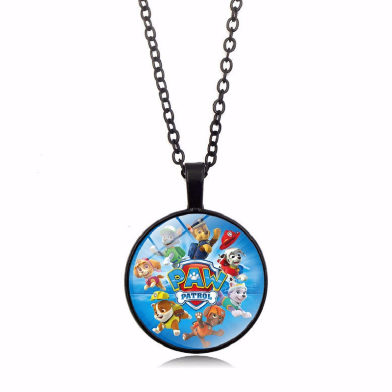 Paw Patrol Necklace Pendant Gemstone Pendant Necklace Vintage Necklace Decoration Collection Gold Toys for Child Birthday Gift in Action Toy Figures from Toys Hobbies