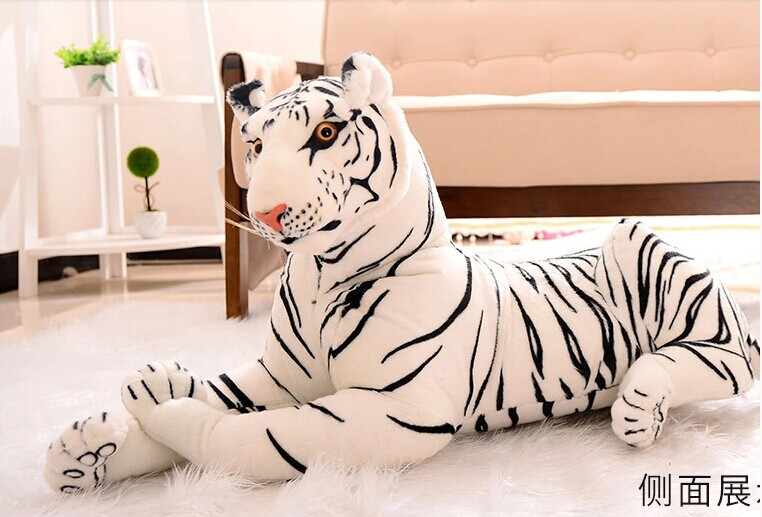 large 80cm white tiger prone tiger plush toy , throw pillow, Christmas gift p2058 larggest size 170cm simulation tiger yellow or white prone tiger plush toy surprised birthday gift w5490