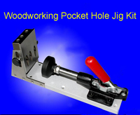 Woodworking Pocket Hole Jig Kit Pocket Hole Jig Kit Gr12Mov Mold Steel Drill Bit Kit System for wood working