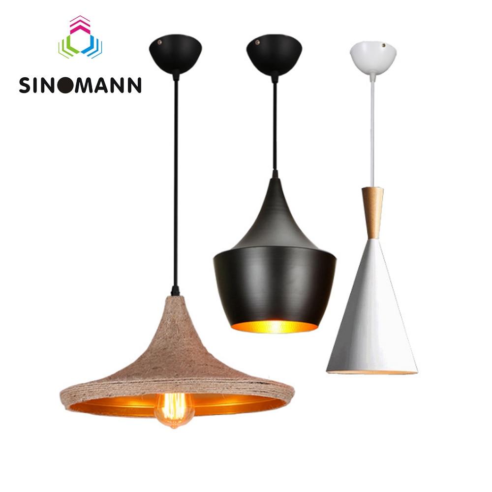 Vintage Ceiling Lights American Design Modern Ceiling Lamp Living Room Lightingf Fixtures White Black Shade Lamparas De Techo
