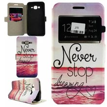 Leather Wallet Stand Flip Cover Case For Samsung Galaxy J5 J500F SM-J500F