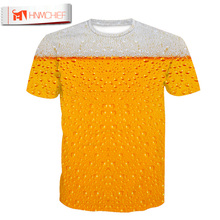 HNMCHIEF Cool Summer Beer Full Print T Shirt Novelty Short Sleeve Tee Tops Man Unisex Outfit High Quality Causal Tee T-Shirts