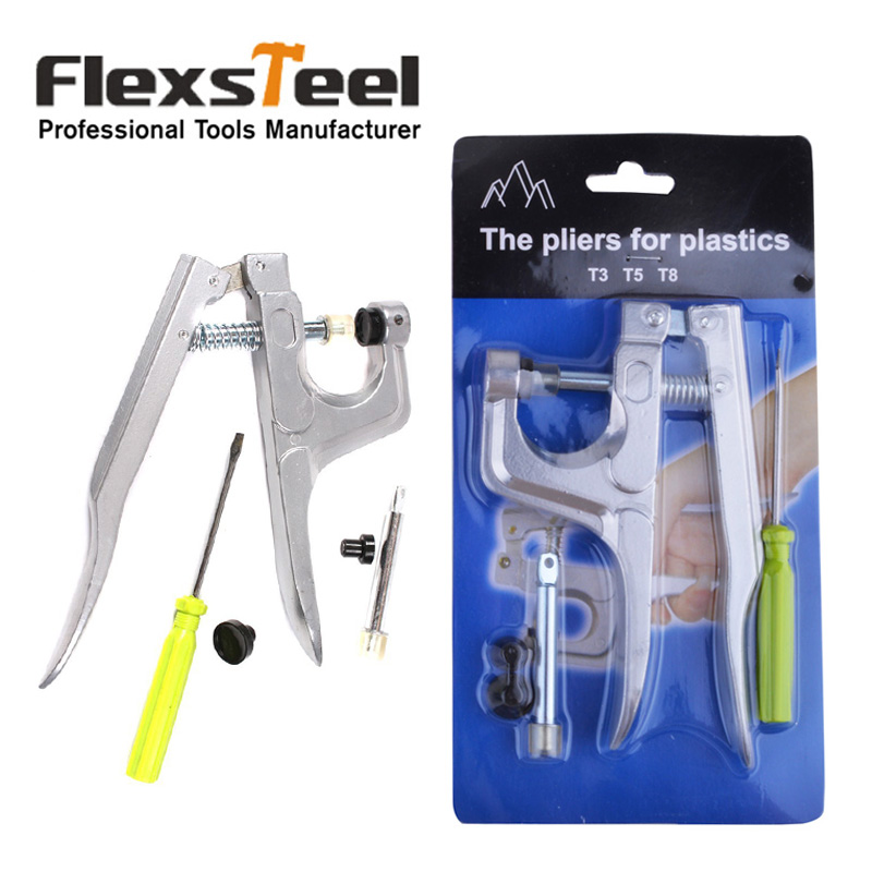 DIY Craft Fastener Plastic Snap Pliers Bottons Press Pliers with Screwdriver for T3 T5 T8 Kam Resin Botton