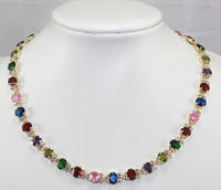 Women Gift word Love Hot sale new Style >>>>>Charming!Multicolor Zircon Crystal Necklace 18'' mujer for silver jewelry