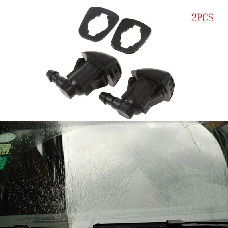 New 2Pcs Fan Shaped Windshield Wiper Washer Jet Nozzle Spray Car Windshield Accessories