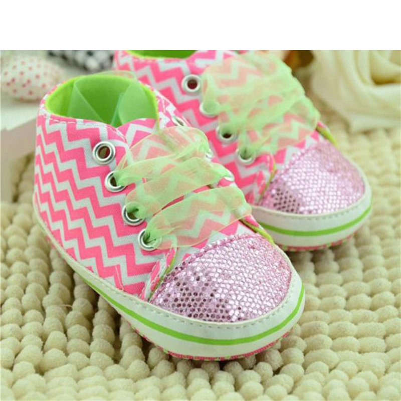 2017 Toddler Boys Girls Striped Sequin Soft Floral Sneakers Shoes BFOF