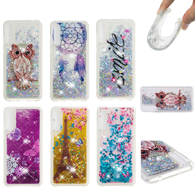 Punctual Soaptree Phone Case For Huawei P20 Plus P20 Pro 6.10 Inch Glitter Liquid Soft Tpu Cover Evident Effect Fitted Cases