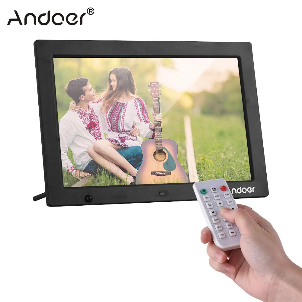 Andoer 1280 800 HD Digital Photo Frame Electronic Picture Album 1080P Video Music Player with Motion