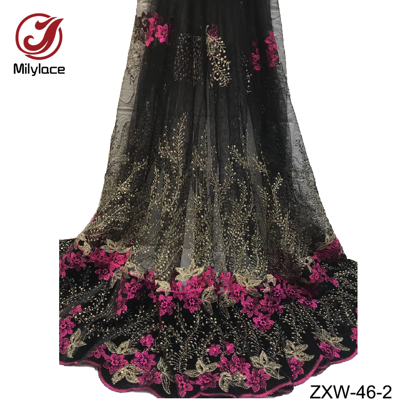 Milylace african french tulle lace fabric hot selling embroidery tissue lace material wholesale nigerian lace fabric