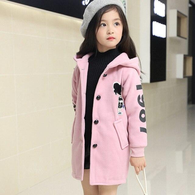 315ff85060d6 Kids girls winter padded jacket 2017 new baby girls fashion clothing ...