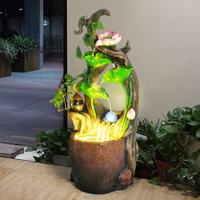 Water Fountain Humidifier Home Furnishing Decor Living Room Water Landscape  Of European Garden Decoration Crafts Business