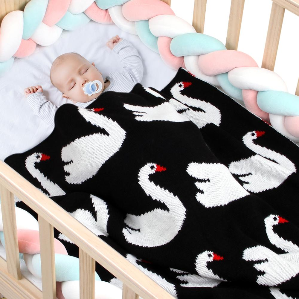 Baby Blankets Knitted Newborn Super Soft Toddler Kids Swaddle Wrap 95*75cm Infantil Boys Girls Stroller Covers Flamingo Quilts