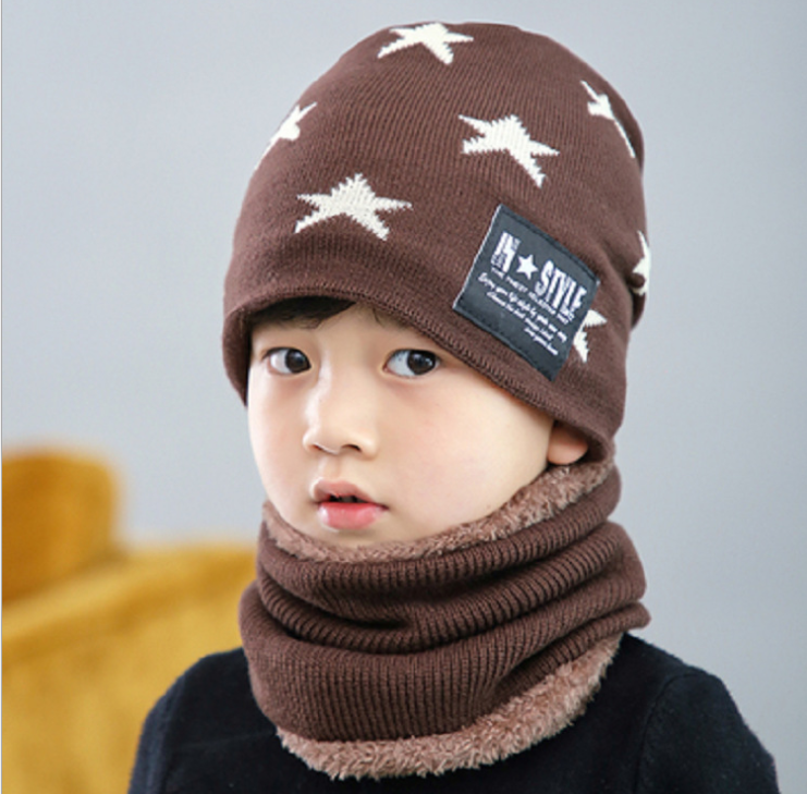 ddb6f5fb2e909d 2018 Baby Hat Scarf Coral Fleece Caps For Boy Girl Cotton Autumn Winter  Children Beanies Kids Photography Props Christmas Gift ~ Super Deal July  2019