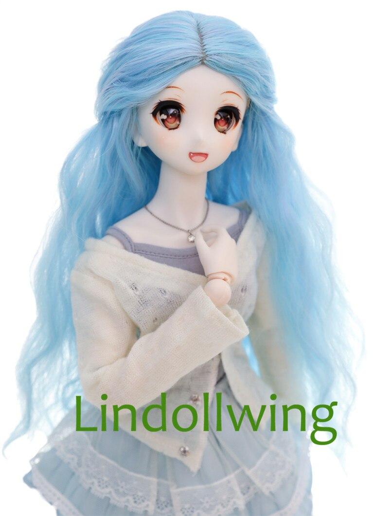 1/3 BJD Wig Pullip Dal DD SD LUT Dollfie Doll Wig High Temperature Hair 8-9 Inch Long Black Wig