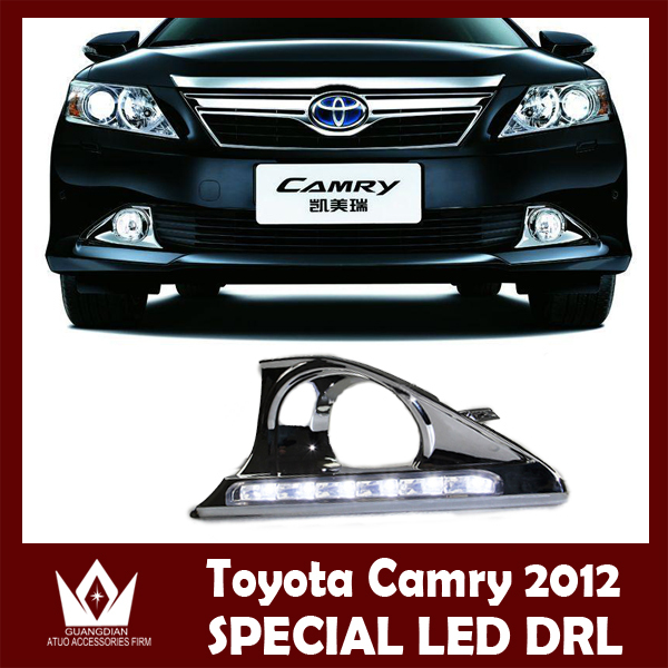ФОТО Night lord For Camry HEV 2012 2013 AUTO CAR LED DRL Daytime running light with yellow turn signal function Free shipping
