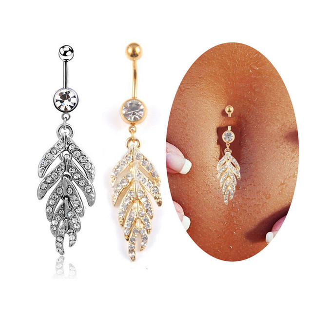 gold products body rings beauty belly grande opal mark glitter button ring jewelry