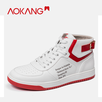 AOKANG 2019 Spring Summer Casual Shoes Comfortable Fashion Top Shoes Men High Quality  Breathable Zapatilla Hombre  flats men