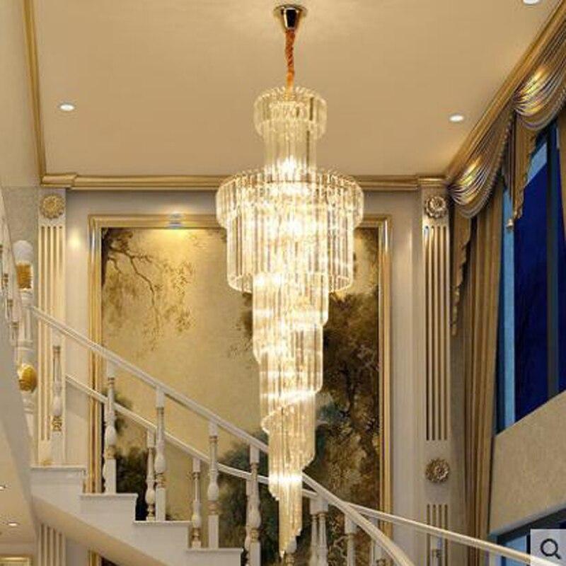 Duplex Grand Chandelier Luxury Villa Staircase Chandelier Long Chandelier Modern Minimalist Hotel Project Restaurant Crystal LED смеситель brimix 3354