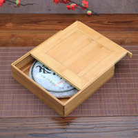 Japan Style Handmade Bamboo wood Pu Er Tea Box Kung Fu Tea Storage Tools Health Care Eco-friendly Tea Set Bamboo Tray Wholesale