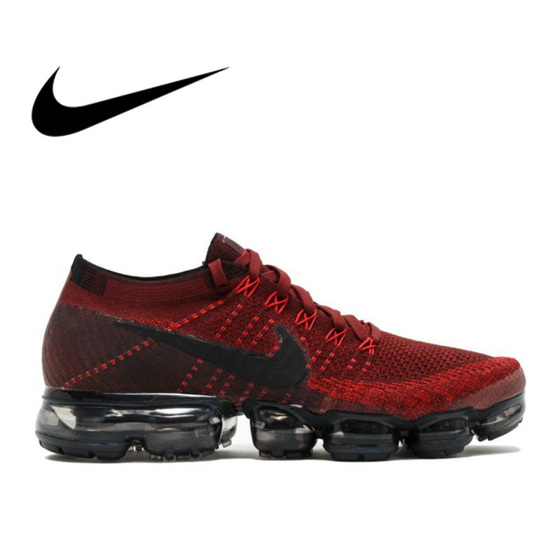 D'origine Nike Air VaporMax Être Vrai Flyknit Respirant Chaussures de Course Hommes Sports de Plein Air Low Top de Sport Officielles Sneakers