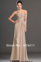 New Fabulous Strapless Pleated Top Beading On Ribbon Evening Dress for Women's Formal Party