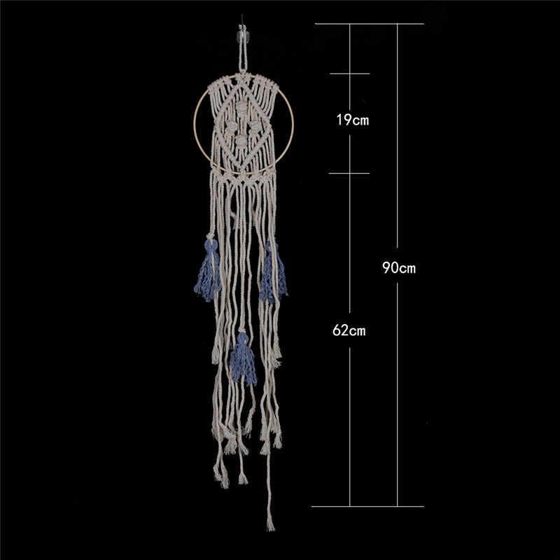 Giá rẻ Cổ Điển Scandinavian Tường Bức Tranh Tường Trang Trí Nội Thất Tường Treo Crochet Xinh Đẹp Thẩm Mỹ Tassel Craft Tay Thắt Nút Bohemia Tấm Thảm