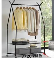 Mobile hangers. Landing clothes rack. The bedroom is simple single pole hanging clothes rack to hang clothes rack..