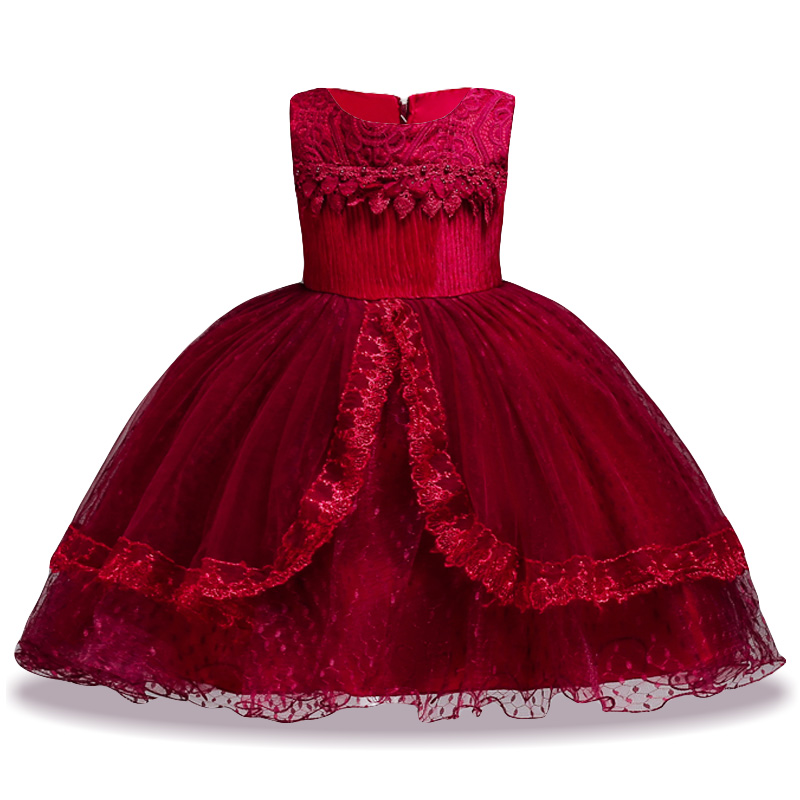 2018 Summer Flower Girls Wedding Dress For Girls Princess Dress Kids Party Dresses For Girls Christmas Dress Children Costume dresses for girls high quality children dress long sleeve kids clothes summer dress flower girls dresses for party and wedding