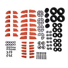 Nuevo modelo accesorios iluminan ladrillos bloques de construcción partes técnica niños juguetes educativos coche ruedas conector arma militar