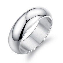 RE Classic 7mm stainless steel wedding bands basic rings for men women comfort fit US size 7 to 12 J40