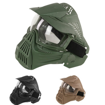 2018 Tactical Outdoor Lens Mask Full Face Breathable CS Hunting Military Army  Protection Masks Paintball Accessories