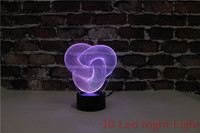 Free Shipping 3D Room Usage And ABS Material Base Carrick Bend Led Lighting With RoHS Certificate