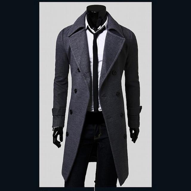 Hot Sale Mens Designer de Roupas de Estilo Britânico Casaco De Lã Blusão Homens Casaco Trench Coat Outono Inverno Casacos 2M0135
