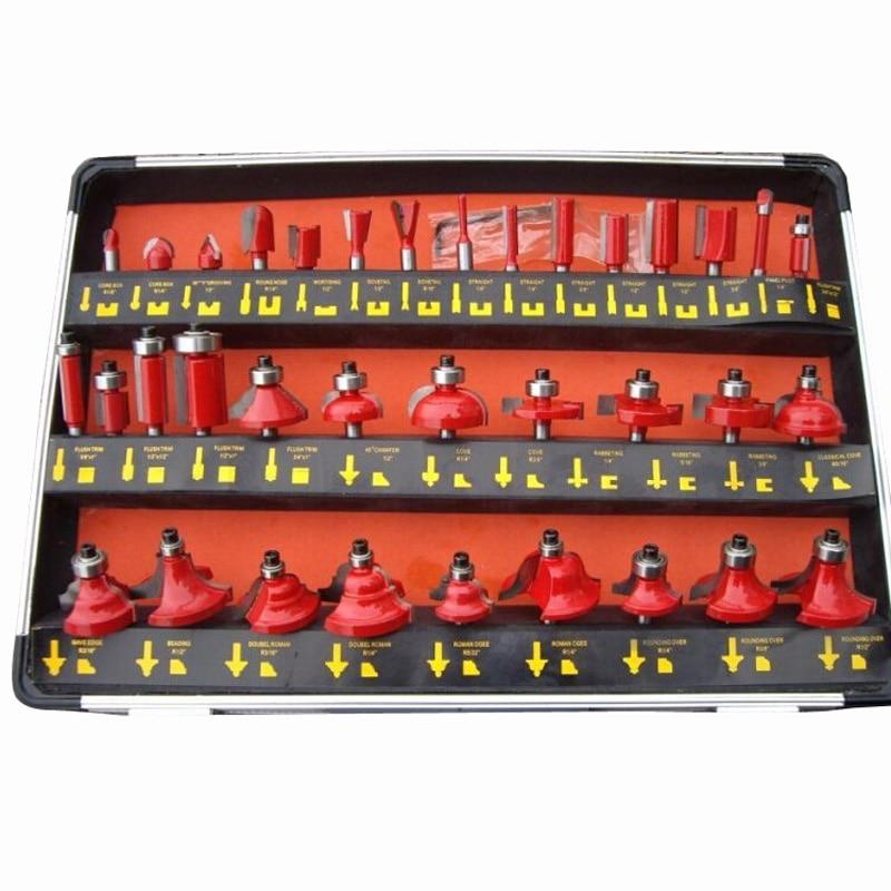 6.35mm boîte en aluminium emballage 35 électromécanique sculpture sur bois bois fraise lame couteau bord décoration ensembles