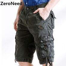 כיסים רבים לעבוד ברמודה מכנסיים קצרים מטען הסוואה צבא צבאי 100% כותנה מזדמן קצר מכנסיים קצרים רחבים בגדי מותג Homme 252