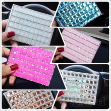 Fashion Hot Sale Crystal Diamond Rhinestone Women Driver License Card Holder Leather Diamante Key Case Girls