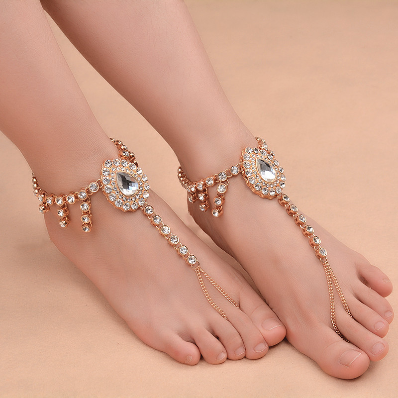 bracelet shiny women for on anklets foot selling big hot chic bangle anklet item gold jewelry accessories fashion in ankles ankle from chain curb chunky