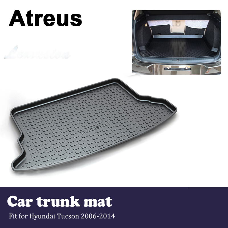 Atreus Waterproof Car Trunk Mat Tray Cargo Floor Liner Carpet For Hyundai Tucson 2006 2007 2008 2009 2010 2011 2012 2013 2014 for hyundai tucson 2006 2007 2008 2009 2010 2011 2012 2013 2014 waterproof anti slip car trunk mat tray floor carpet pad